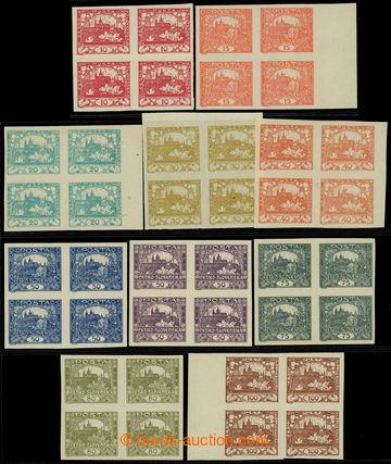 224737 -  4-BLOKY / sestava 10ks 4-bloků, hodnoty 10h červená, 15h