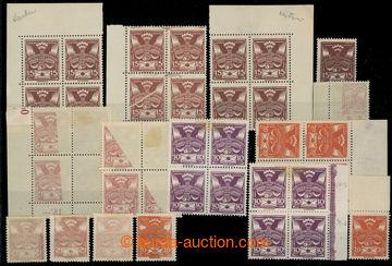 224860 -  SESTAVA / 7ks 4-bloků a 7 samostatných zn., mj. 2x 4-blok
