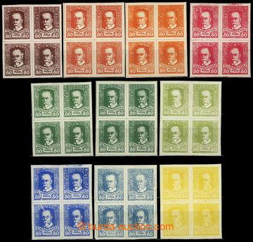 224878 - 1920 ZT  tiskárny HAASE, sestava 10ks 4-bloků hodnoty TGM