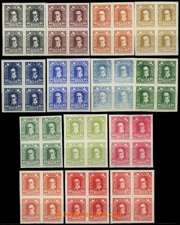 224881 - 1920 ZT  návrhů tiskárny HAASE, sestava 14ks 4-bloků hod