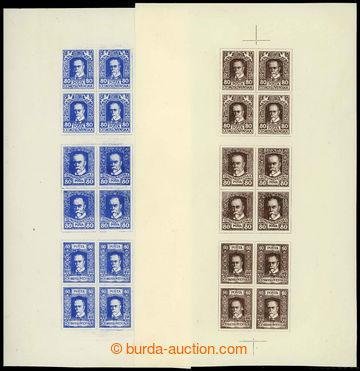 224883 - 1920 ZT  tiskárny HAASE, sestava 2ks 12-známkových soutis