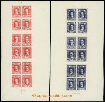 224884 - 1920 ZT  návrhů tiskárny HAASE, sestava 2ks 12-známkový