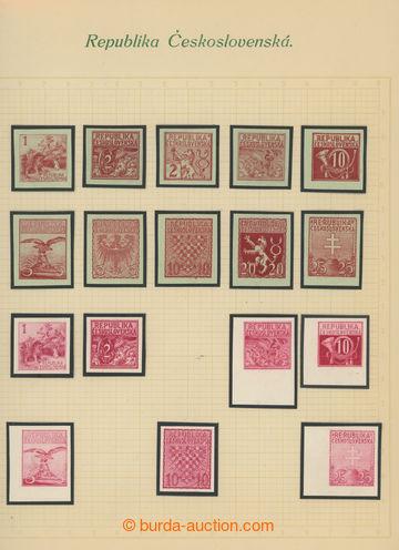 224886 - 1920 ZT  návrhů pro výplatní známky 3h-10K, Národní m