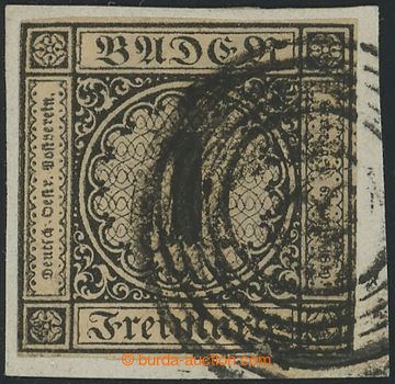 224950 - 1851 Mi.1a, Číslice 1Kr černá, I. vydání, na malém v�