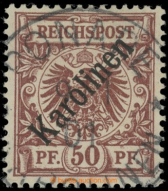 224962 - 1899 Mi.6I, přetisková Krone / Adler 50Pfg světle červen
