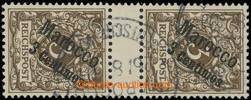 224964 - 1899 Mi.1ZS, přetisková Číslice 3C/5Pfg ve svislém 2-zn