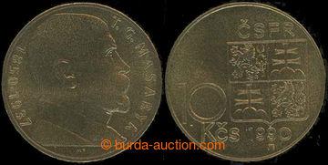 224972 - 1990 10 Kčs Masaryk 1990 - varianta b, kvalita 0/0