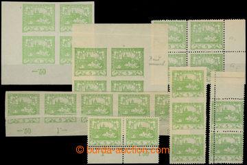 224989 -  Pof.3, 3D, 5h světle zelená, sestava 4-bloků, 2 a 3-pás