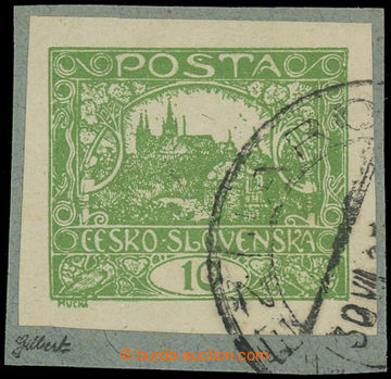 224993 -  Pof.6, 10h zelená, výstřižek s fragmentem DR KEŽMAROK