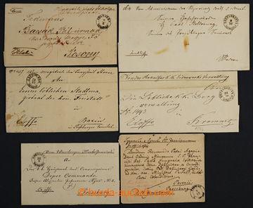 225007 - 1851-1867 SLOVENSKO / sestava 5ks skládaných přebalů Ex