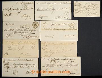 225008 - 1855-1869 SLOVENSKO / sestava 9ks skládaných přebalů Ex