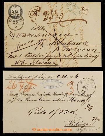 225022 - 1856-1867 ČESKÉ ZEMĚ / sestava 2ks skládaných průvodn�