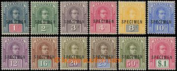 225057 - 1918 SG.50-61, Brooke 1C-$1, vzácné vydání bez průsvitk