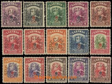 225058 - 1947 SG.150-164, Brooke 1C - $5, přítisk  GR VI a koruna -