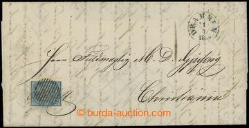225059 - 1855 dopis s Mi.1, Znak 4Sk, zasláno z DRAMMEN do Christian