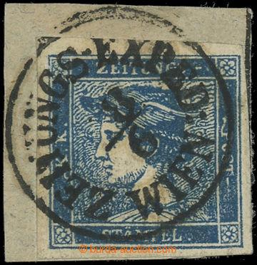 225060 - 1851 Ferch.6 IIIb, Modrý Merkur na výstřižku s DR ZTGS E