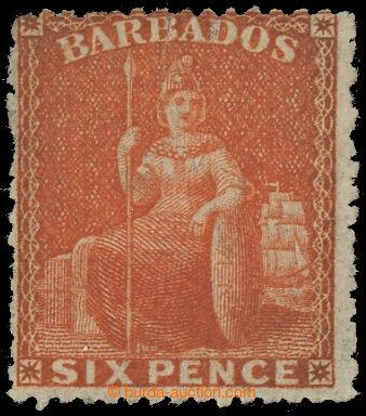 225061 - 1870 SG.46, Britannia 6P orange-vermilion, průsvitka LARGE