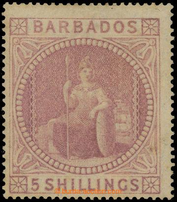 225062 - 1873 SG.64, Britannia 5Sh, dull rose; velmi pěkná a vzácn