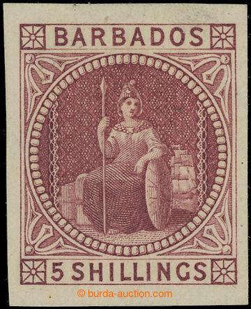 225063 - 1873 ZT pro SG.64, Britannia 5Sh magenta namísto dull rose;