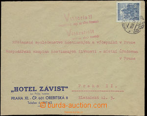 22507 - 1941 commercial letter with propagandistic cancel. Victoria