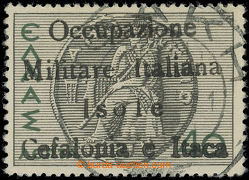 225070 - 1941 ITHAKA - Italská okupace / Sass.31, řecká 40 Lepta z