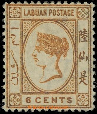 225073 - 1880 SG.6w, Viktorie 6C oranžově - hnědá, průsvitka CC