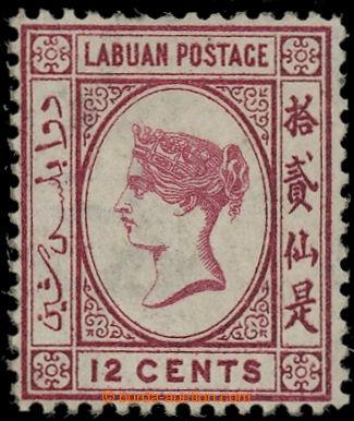 225074 - 1880 SG.9w, Viktorie 12C karmínová, průsvitka CC PŘEVRÁ