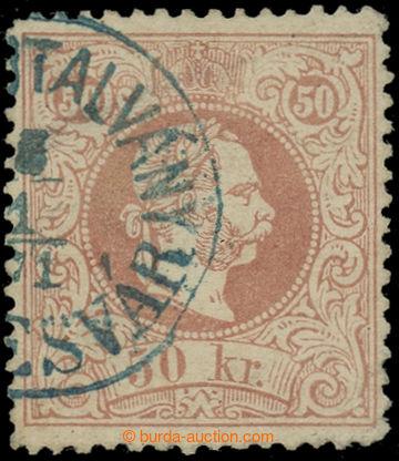 225089 - 1867 ANK.41I, FJ I. 50Kr hrubý tisk s modrým UHERSKÝM (!)