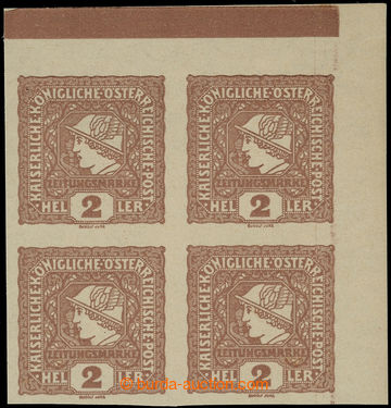 225096 - 1916 NOVINOVÉ  1916 / ANK.212b, Merkur vlevo 2h červenohn�