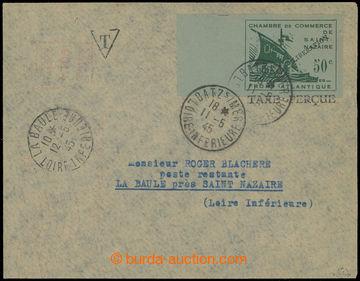 225108 - 1945 FRANKREICH - ST. NAZAIRE / Mi.1U Galeere 50C NEZOUBKOVA