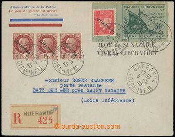 225109 - 1945 FRANKREICH - ST. NAZAIRE, Mi.1 Galeere 50C krajová s p