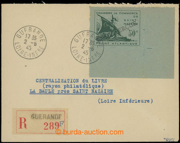 225110 - 1945 FRANKREICH - ST. NAZAIRE, Mi.1 Galeere 50C rohová bez
