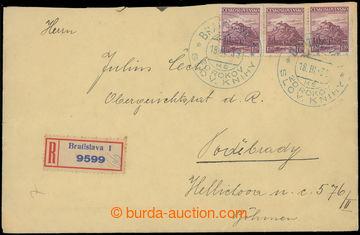 225114 - 1939 R-dopis adresovaný do Protektorátu ČaM, vyfr. čsl.