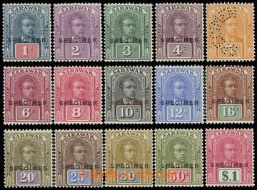 225117 - 1928 SG.76s-90s, Brooke 1C - 1$, kompletní série SPECIMEN,