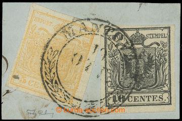 225129 - 1850 Ferch.1I+2I, patriotická frankatura Znak 5Cts + 10Cts