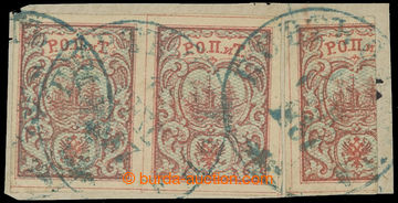 225130 - 1866 LEVANTA / Mi. 3II, výstřižek s 2 známkami 10Pa (bez