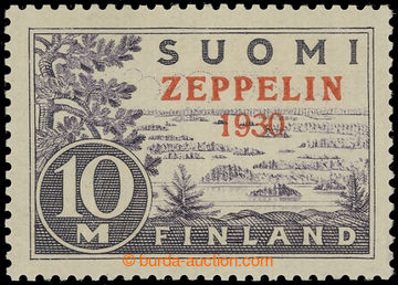 225140 - 1930 Mi.161, 10M s přetiskem ZEPPELIN 1930; kat. 200€