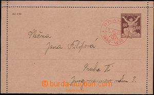22516 - 1930 CPO3 pneumatic tube letter card with stamp. 160h issue
