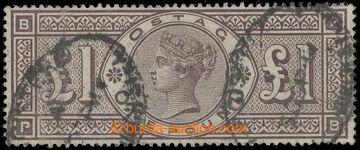 225166 - 1884 SG.185, Viktorie £1 brown lilac, průsvitka tři korun