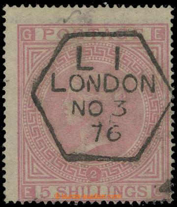 225180 - 1874 SG.127, 5Sh světle růžová, TD 2, průsvitka maltéz