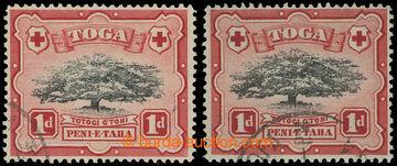 225187 - 1942-1949 SG.75a, Ovava tree 1P černá / purpurová, raz. k
