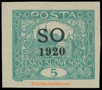 225208 -  Pof.SO3, Hradčany 5h modrozelená nezoubkovaná; lehká st