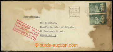 225263 - 1954 KATASTROFICKÁ POŠTA / Let-dopis ze Sydney do Londýna