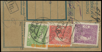 225324 -  ústřižek poštovní průvodky vyfr. mj. zn. 10h zelená