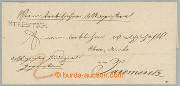225374 - 1828 ČESKÉ ZEMĚ/ skládaný dopis adresovaný do Jaromě�