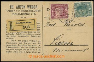 225376 - 1918 Maxa T8, identifikační firemní dopisnice zaslaná ja