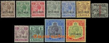 225384 - 1919 SG.69-88s, Jiří V. ¼P - 5Sh SPECIMEN; kompletní sé