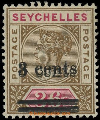 225387 - 1901 SG.39a, Viktorie 3C/36C hnědá, DVOJITÝ PŘETISK; po