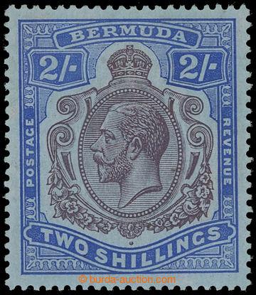 225390 - 1918-1922 SG.51bf, Jiří V. 2Sh fialová / modrá s DV - Da