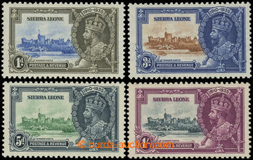 225402 - 1935 SG.181c-184c, Jubilee George V. 1P - 1Sh, all with plat